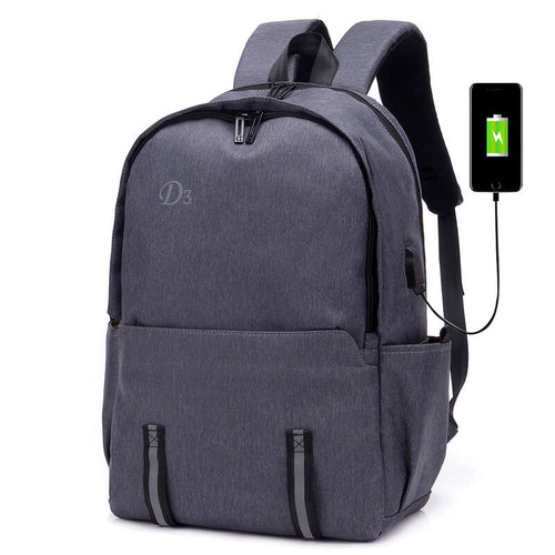 Travel men school laptop backpack