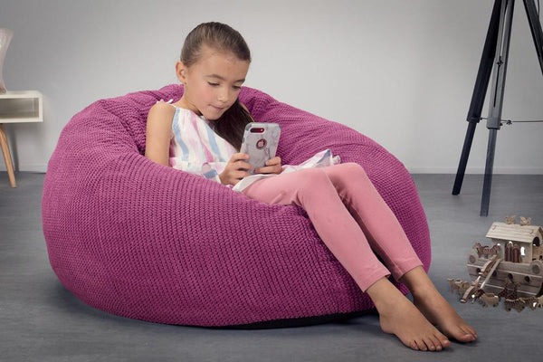 CloudSac-Kids-Memory-Foam-Giant-Childrens-Bean-Bag-Pom-Pom-Pink_2