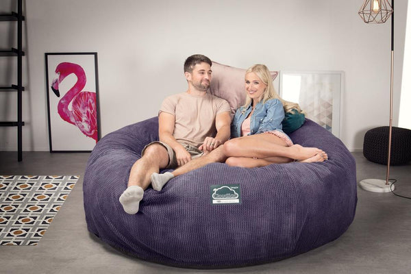CloudSac-3000-XXL-A-King-Sized-Memory-Foam-Bean-Bag-Sofa-Pom-Pom-Purple_2