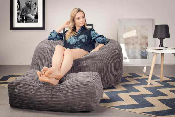 CloudSac-510-XL-X-Large-Memory-Foam-Bean-Bag-Cord-Graphite-Gray_2