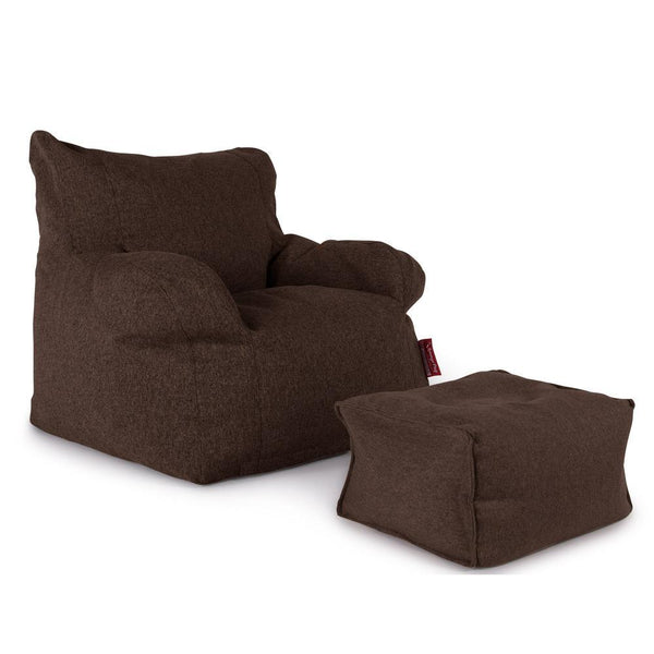 Bean-Bag-Armchair-Interalli-Wool-Brown_1