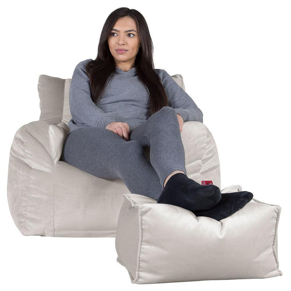 Bean-Bag-Armchair-Velvet-Silver_1