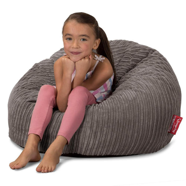CloudSac-Kids-Memory-Foam-Giant-Childrens-Bean-Bag-Cord-Graphite-Gray_1