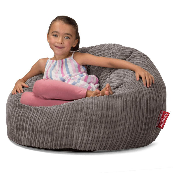 CloudSac-Kids-Memory-Foam-Giant-Childrens-Bean-Bag-Cord-Graphite-Gray_2