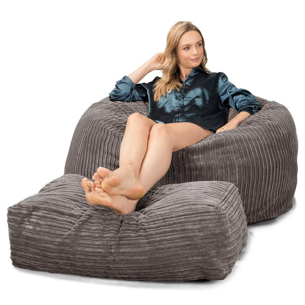CloudSac-510-XL-X-Large-Memory-Foam-Bean-Bag-Cord-Graphite-Gray_1