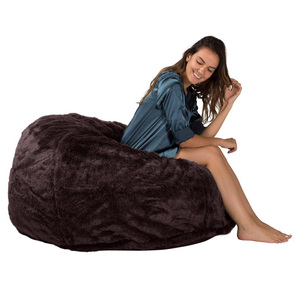 cloudsac-510-xl-x-large-memory-foam-bean-bag-fluffy-faux-fur-brown-bear_5