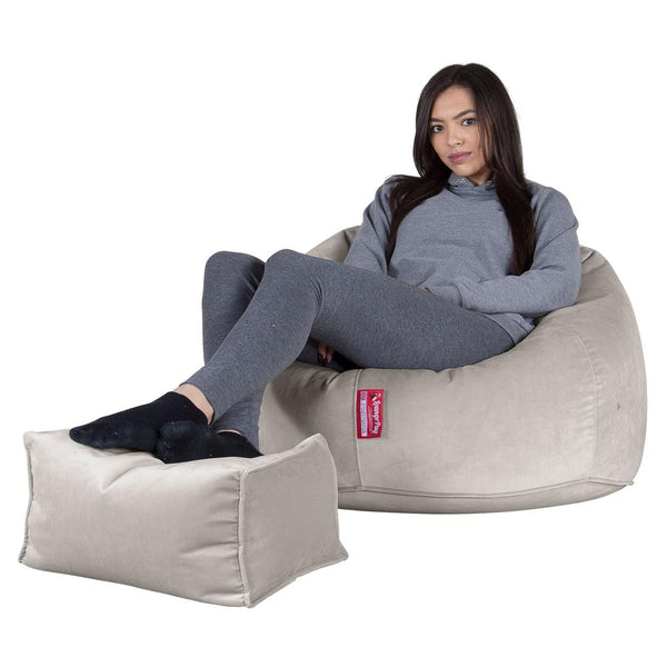 Classic-Bean-Bag-Chair-Velvet-Silver_1