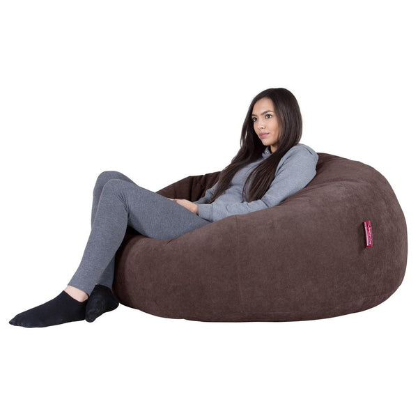 Classic Sofa Bean Bag - Flock Chocolate Brown