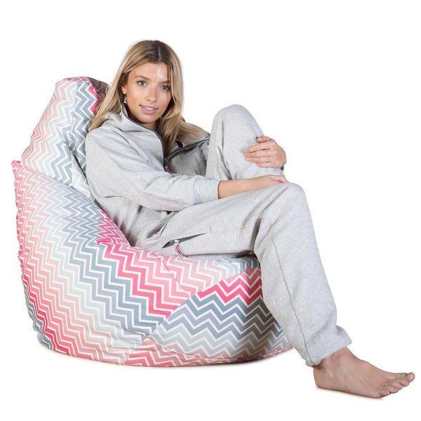 Highback-Bean-Bag-Chair-Geo-Print-Chevron-Pink_1