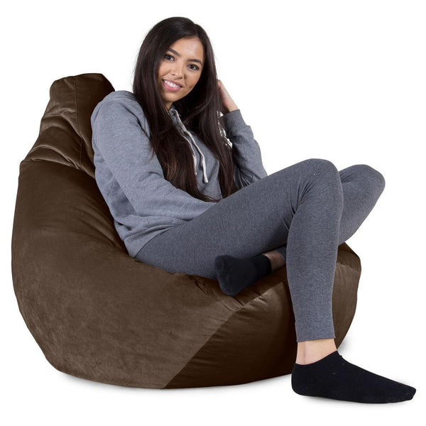 Highback-Bean-Bag-Chair-Velvet-Espresso_1