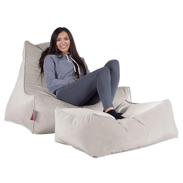 Lounger-Bean-Bag-Velvet-Silver_1