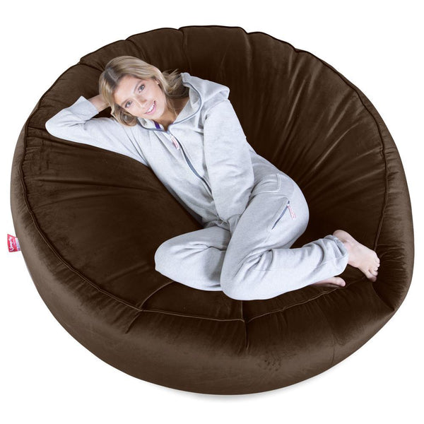 Mega-Mammoth-Bean-Bag-Sofa-Velvet-Espresso_1