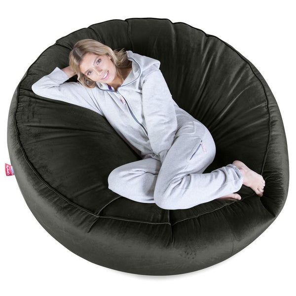 Mega-Mammoth-Bean-Bag-Sofa-Velvet-Graphite-Gray_1
