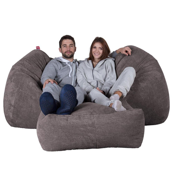 Huge-Bean-Bag-Sofa-Pom-Pom-Charcoal-Gray_1