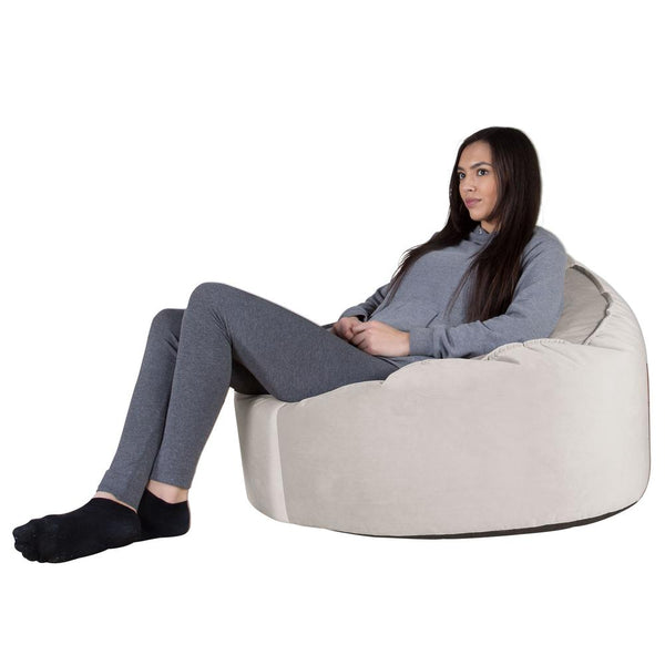 Mini-Mammoth-Bean-Bag-Chair-Velvet-Silver_1