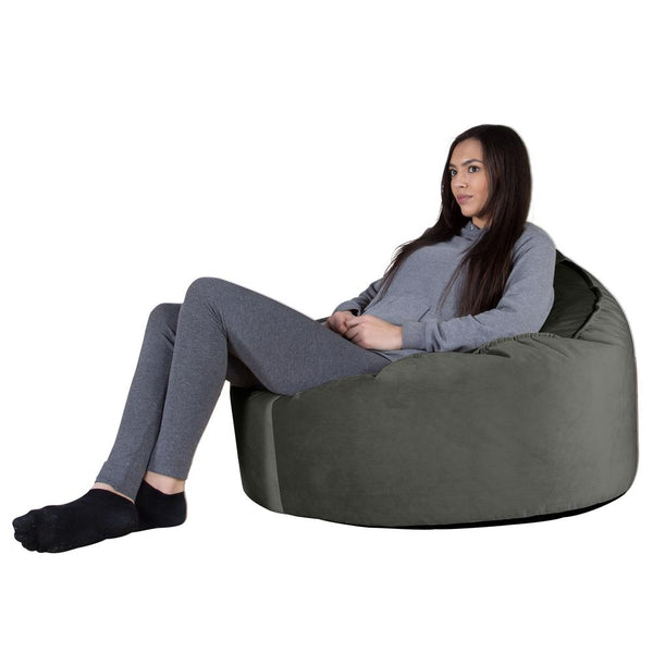 Mini-Mammoth-Bean-Bag-Chair-Velvet-Graphite-Gray_1