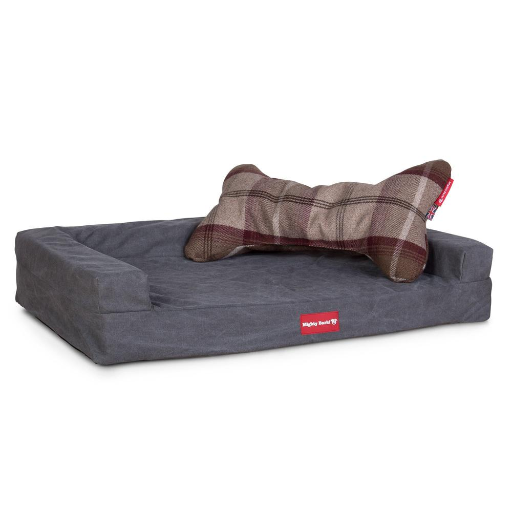 the-bone-bone-shaped-pillow-for-on-dog-beds-tartan-mulberry_5