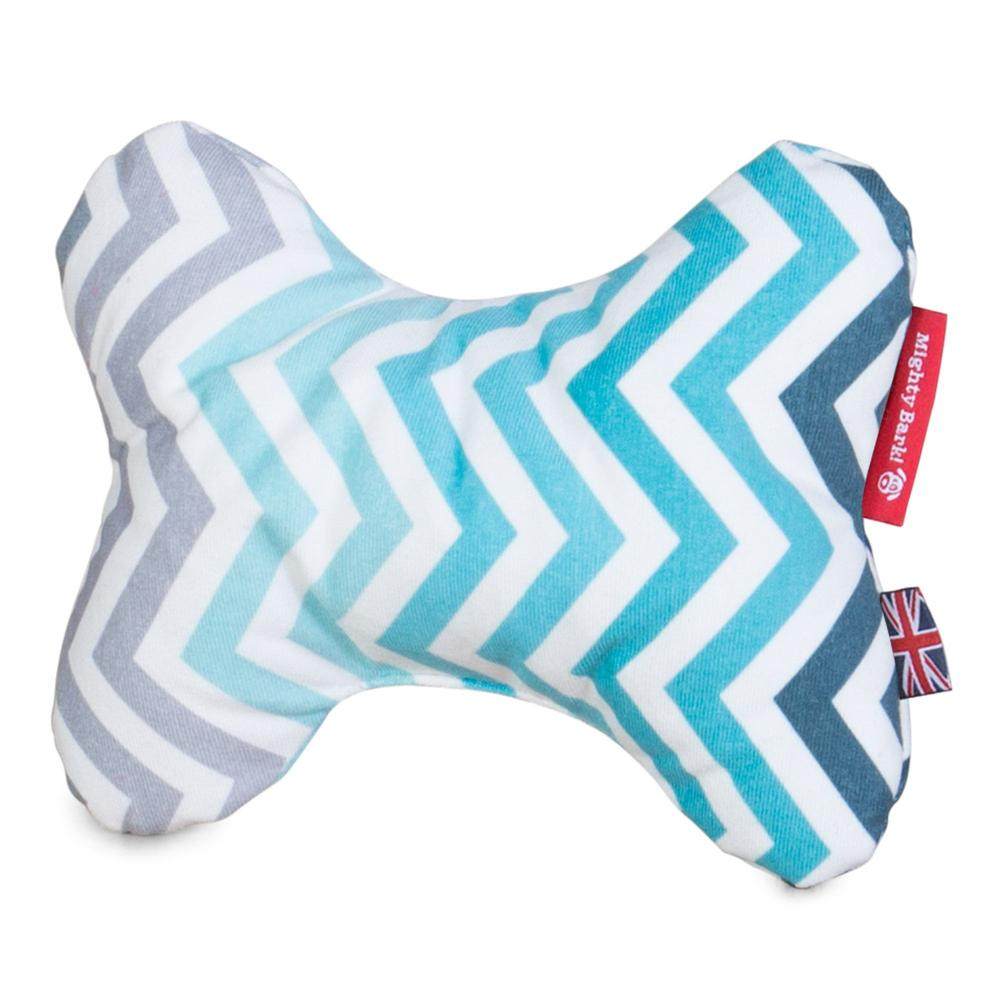 the-bone-bone-shaped-pillow-for-on-dog-beds-geo-print-chevron-teal_4