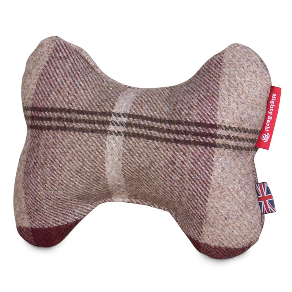the-bone-bone-shaped-pillow-for-on-dog-beds-tartan-mulberry_4