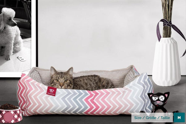the-cat-bed-memory-foam-cat-bed-geo-print-chevron-pink_2