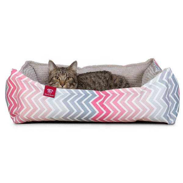 the-cat-bed-memory-foam-cat-bed-geo-print-chevron-pink_1