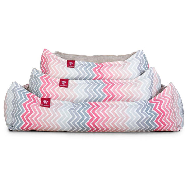 the-nest-orthopedic-memory-foam-dog-bed-geo-print-chevron-pink_1