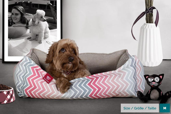 the-nest-orthopedic-memory-foam-dog-bed-geo-print-chevron-pink_2