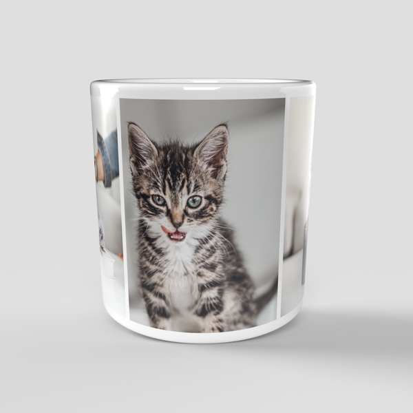 Personalised Photo Mug with 3 Pictures