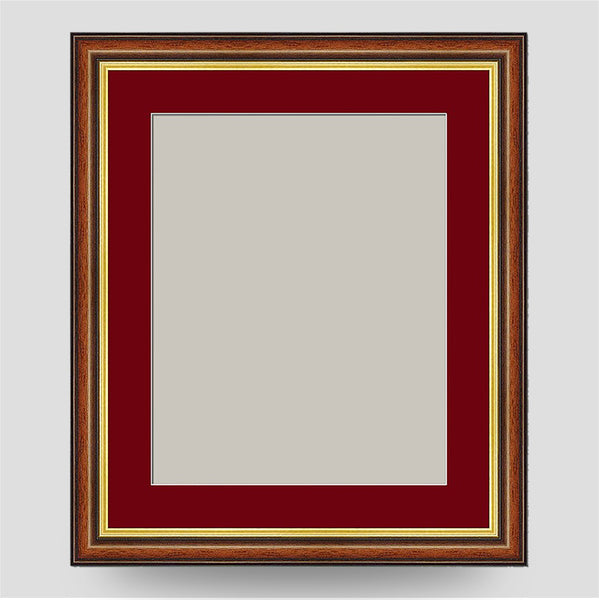 12x10 Brown & Gold Picture Frame Including a 10x8 Mount