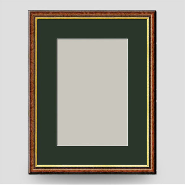16x12 Brown & Gold Picture Frame Including a 12x8 Mount