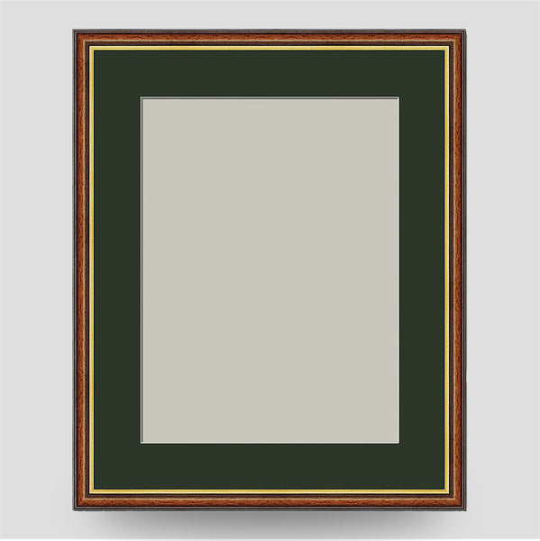 20x16 Brown & Gold Picture Frame Including a 16x12 Mount