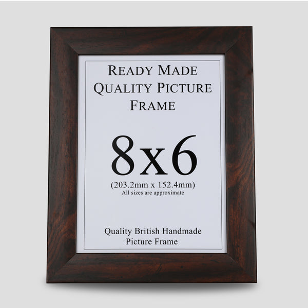 8x6 Walnut Style Picture Frame