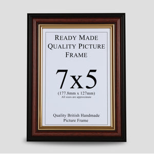 7x5 Brown & Gold Picture Frame