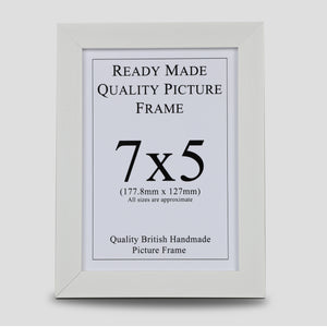 7x5 White Picture Frame