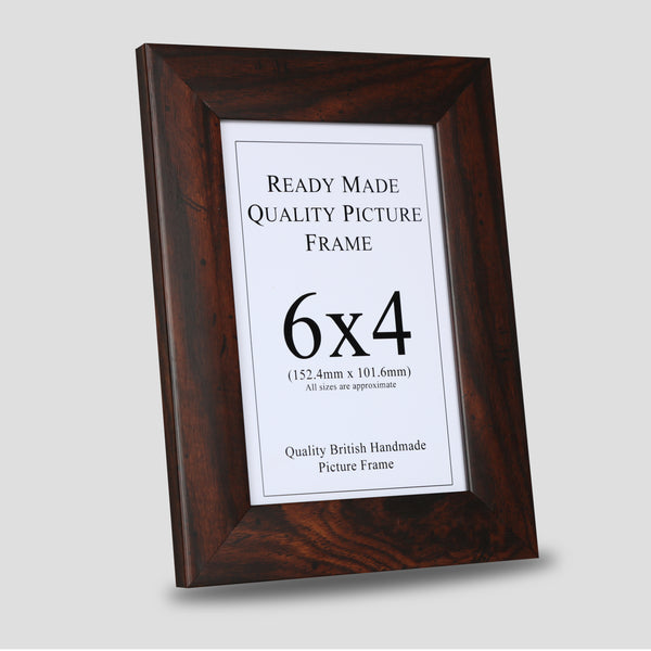 6x4 Walnut Style Picture Frame