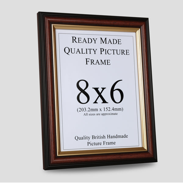 8x6 Brown & Gold Picture Frame