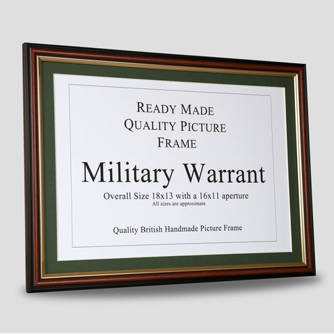 Military Warrant Frame - Brown & Gold.