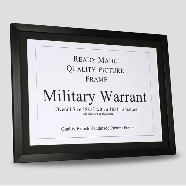 Military Warrant Frame - Black