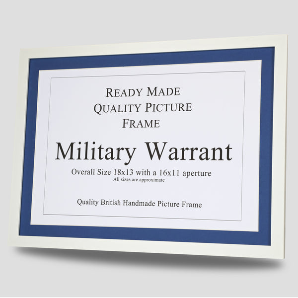 Military Warrant Frame - White