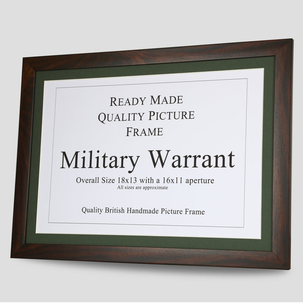 Military Warrant Frame - Walnut
