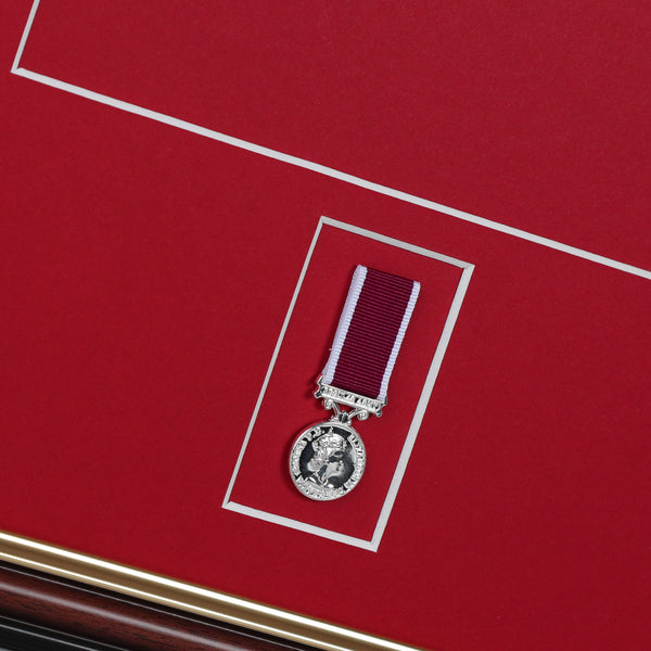 LSGC Miniature Medal Frame & A4 Citation