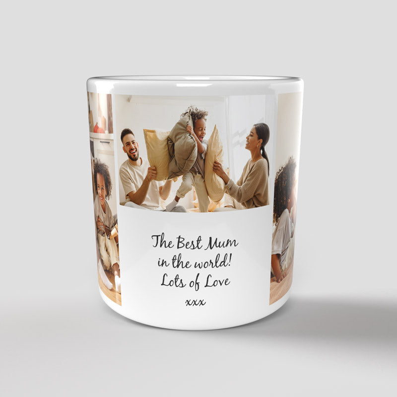 Personalised Photo Mug - 3 Pictures & Text