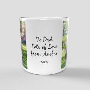 Personalised Photo Mug - 2 Pictures & Text
