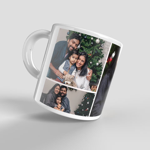 Personalised Photo Montage Mug with 3 Pictures