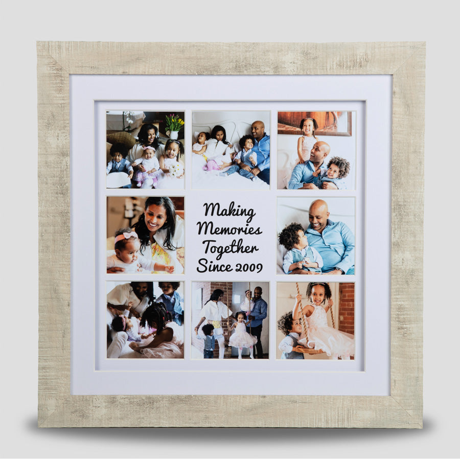 Personalised Framed Family Photo - 8 images & personalised text