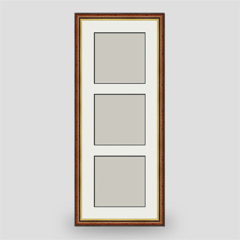 Brown & Gold Triple Frame Square Size Prints - Various Sizes