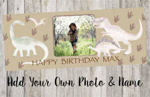 Personalised Dinosaur Birthday Banner