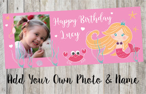 Personalised Mermaid Birthday Banner