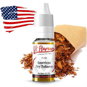 UK Flavour Tobacco Range Concentrate 0mg 30ml (Mix Ratio 15-20%)