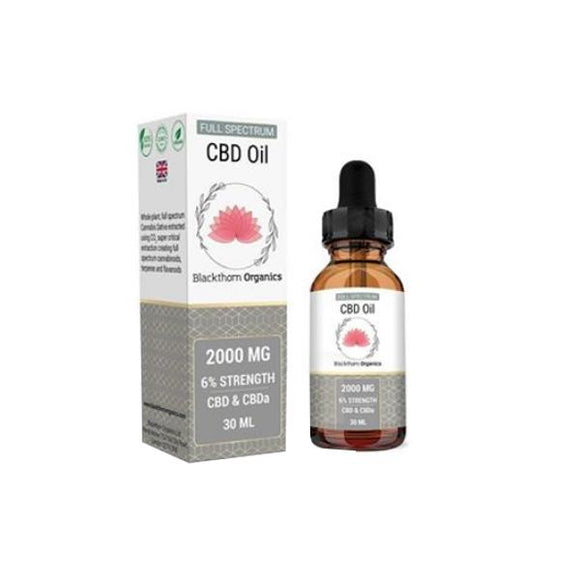 Blackthorn Organics 2000mg CBD Tincture Oil 30ml